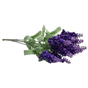"""Lily Garden TWO 14"""" Artificial Lavender Flower 10-stem Bouquets (deep purple) 87"""