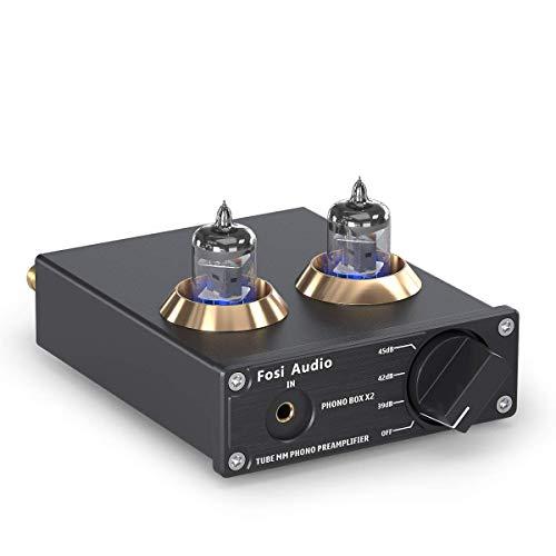 Fosi Audio BOX X2 Phono Voorversterker voor Platenspeler, MM Phonograph Voorversterker met Versterkingsmechanisme, Mini…