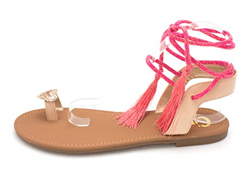 Fabric Natural Sam Open by Toe Sandals Binx Circus 5 Womens Naked Edelman Slide Casual FHZfRY