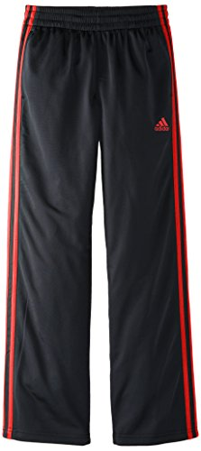 adidas Big Boys' Designator Pant, Black/Scarlet, Large