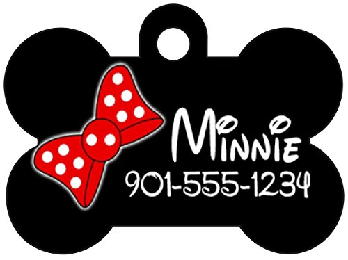 Cute Minnie Bow Pet Id Dog Tag Personalized for Your Pet]()