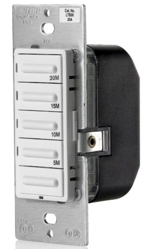 Leviton Gang Nylon 3 Decora (Preset 5-Button Timer Switch, 30 Minute)