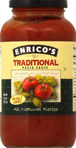 ENRICOS Sauce All Natural No Salt Pasta, 26 Ounce