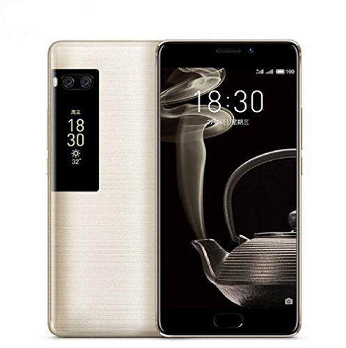 Meizu Pro 7 Plus Unlocked 4G LTE Smartphone Deca Core 6GB RAM 64GB ROM 5.7'' 2K Super AMOLED Two-sided Screen Dual Rear 12MP Camera Fingerprint Recognition Fast Charge Cell Phone (Gold) by Meizu