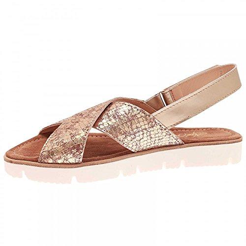 Sandalias y chanclas para mujer, color Plateado , marca ALPE, modelo Sandalias Y Chanclas Para Mujer ALPE ARMANINA Plateado Bronze