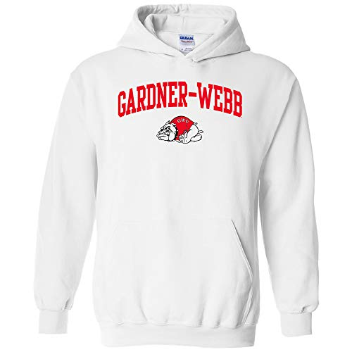 UGP Campus Apparel AH03 - Gardner-Webb Bulldogs Arch Logo Hoodie - Small - White