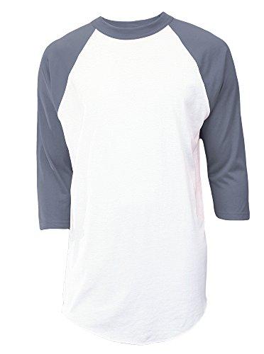 Soffe MJ Women's 3/4 Sleeve Baseball Jersey, Gun Metal, X-Large