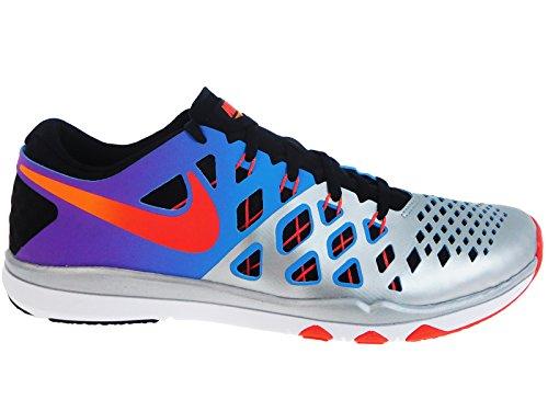 Nike Mens Treno Velocità 4 Amp Torcia Sintetico Cross-scarpe Da Ginnastica Nero / Luminoso Cremisi / Argento Metallico
