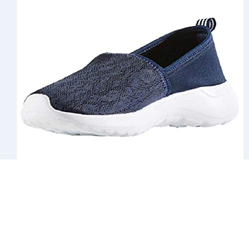 adidas Women's Cloudfoam Lite Racer Slip On Navy Blue