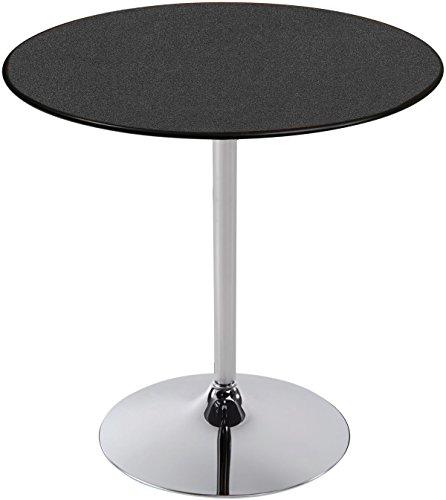 - PS Furniture LS3030RD-MXB-GNB-TCH Edge Reception Table, Laminate: Graphite Nebula, Base: Polished Chrome