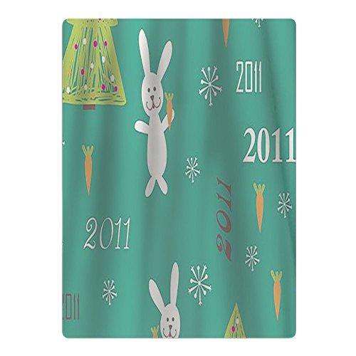 Christmas Trees Rabbit Beach Towel Yoga Mat Picnic Mat Shower Towel (Ultra-absorbent Mat Christmas Tree)