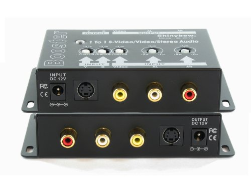 Shinybow S-video - Shinybow SB-2810 S-Video/Composite Video and Stereo Audio Booster, Shinybow SB-2810