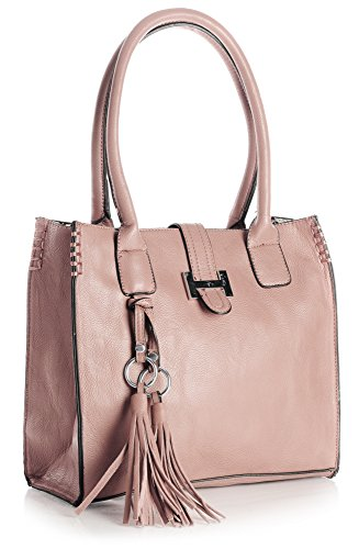 Shoulder Top Womens Leather Handbag Shop Vegan Size Satchel Various Design Dusty Pink Handle Bag Medium 1 in Big Design 0pvSqwp