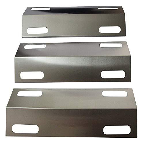 Hongso SPI351 (3-Pack) Stainless Steel Heat Plate for 3 Burner Ducane Affinity 3100 3200 3400(15 3/8 x 6)