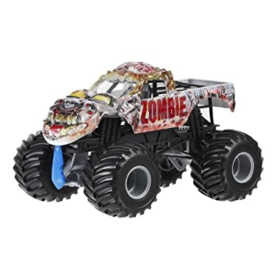 Hot Wheels Monster Jam Zombie Die-Cast Vehicle, 1:24 Scale: Toys & Games