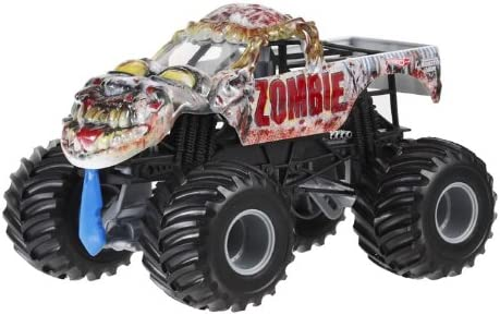 Amazon Com Hot Wheels Monster Jam Zombie Die Cast Vehicle 1 24 Scale Toys Games