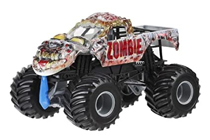 Amazon Com Hot Wheels Monster Jam Zombie Die Cast Vehicle 1 24