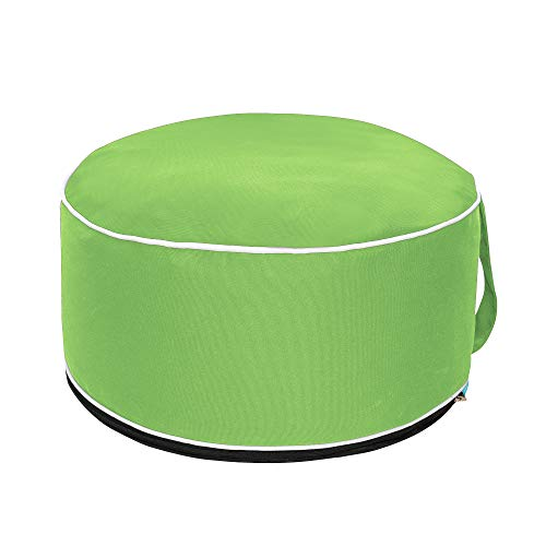 - QILLOWAY Indoor/Outdoor Inflatable Stool,Round Ottoman,Foot Rest for Kids or Adults, Camping or Home (Green)
