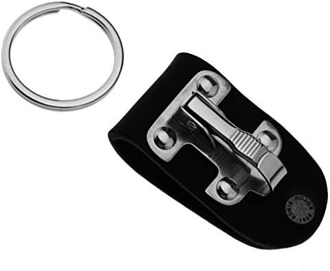 Llavero desmontable de liberaci/ón r/ápida de acero inoxidable desmontable con clip de lazo