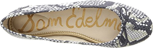 Ballet Edelman Snake Women's Flats Sam Matte Diamante Grey Felicia Leather dAtRx8Uq