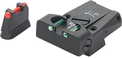 LPA Sight Set, Fully Adjustable Fiber Optic, CZ 75/85 TTF86CZ by LPA