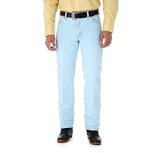(Wrangler Men's 13MWZ Cowboy Cut Original Fit Jean, Gold Buckle Bleach, 42W x 34L )