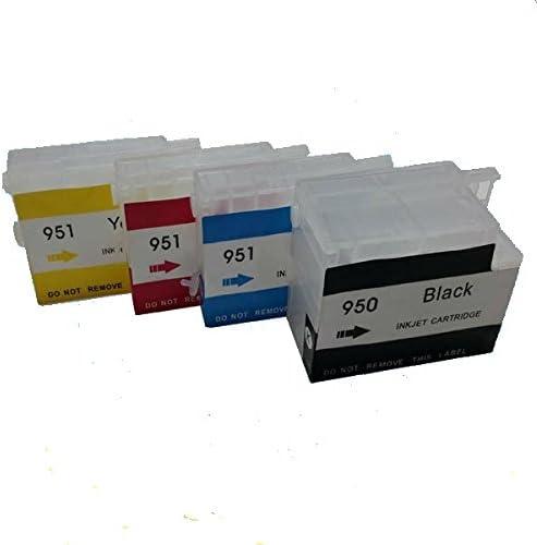 4 vacíos recargables HP 950 X L, 951 X L Cartuchos de tinta para ...