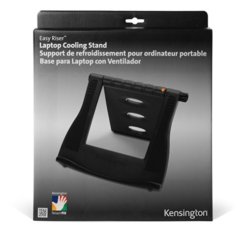 Kensington Easy Riser Laptop and Tablet Cooling Stand - Adjustable - Fits Wacom, iPad Pro and Other Tablets and laptops - Gray (K60112AM)
