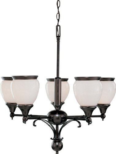 Volume Lighting V4675-27 Hyde Park 5-Light Florence Bronze Chandelier, 27