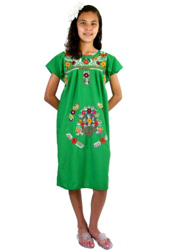 Leos Mexican Imports Girls Mexican Puebla Dress (Baby