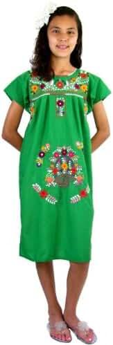 Leos Mexican Imports Girls Mexican Puebla Dress
