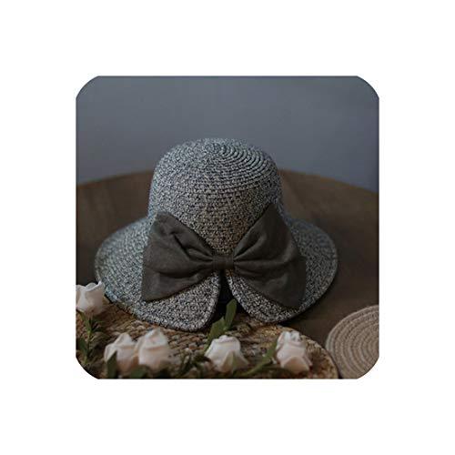 Women's Wheat Panama Summer Straw Hat,2]()