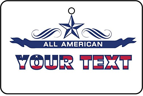 AAF-Personalised CUSTOM ALL AMERICAN YOUR TEXT CAR AIR FRESHENER (MOTHER