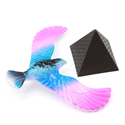 Yiphates 1 Pcs Random Color Balancing Bird Center of Gravity Physics Toy 6.3 inch Colors may vary