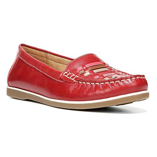 Naturalizer Dames Leer Loafer Rode Peper Leer