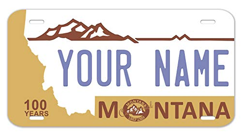 - Bleu Reign Personalized Custom Name Montana State License Plate 12