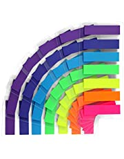 moinkerin 980 Pcs Transparent Sticky Notes Flags, 7 Color Index Tabs Index Flag Bright Colors Page Index Stickers Translucent Page Makers for Page Bookmarks (980 Pieces -Rectangle)