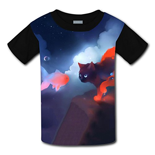 100% Cotton New Fashion Tee Shirt 3D Printed With Cat Fish For Unisex Child - Portland In Center Shopping
