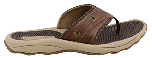 Sperry Top-Sider Mens Outer Banks Thong Sandal Brown (Boxed)