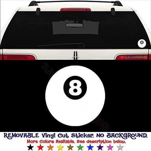 20 Inch Helmet Pool - GottaLoveStickerz 8 Pall Billiard Pool Permanent Vinyl Decal Sticker for Laptop Tablet Helmet Windows Wall Decor Car Truck Motorcycle - Size (20 Inch / 50 cm Tall) - Color (Gloss Black)