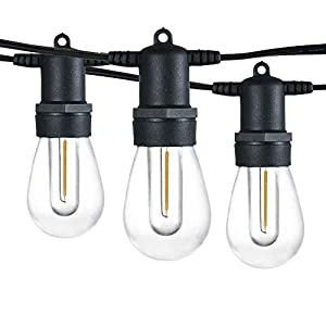Banord 102FT Dimmable LED Outdoor String Lights, 34 Hanging Sockets with 35 x Shatterproof LED Bulb Party Lights…