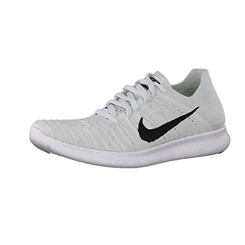 b8f197b0eb6 outlet Nike Women s Free Rn Flyknit Running Shoes White Black Pure Platinum  7