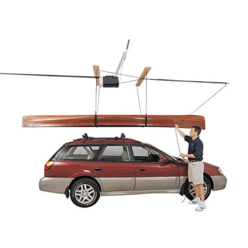 Harken Garage Storage Ceiling Hoist | 4 Point System | For 16ft Ceilings up to 90lbs/40kg Max Load | 4:1 Mechanical Advantage | Part No. 7802.16 ()