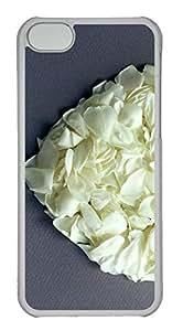Customized iphone 5C PC Transparent Case - Flower Love Cover