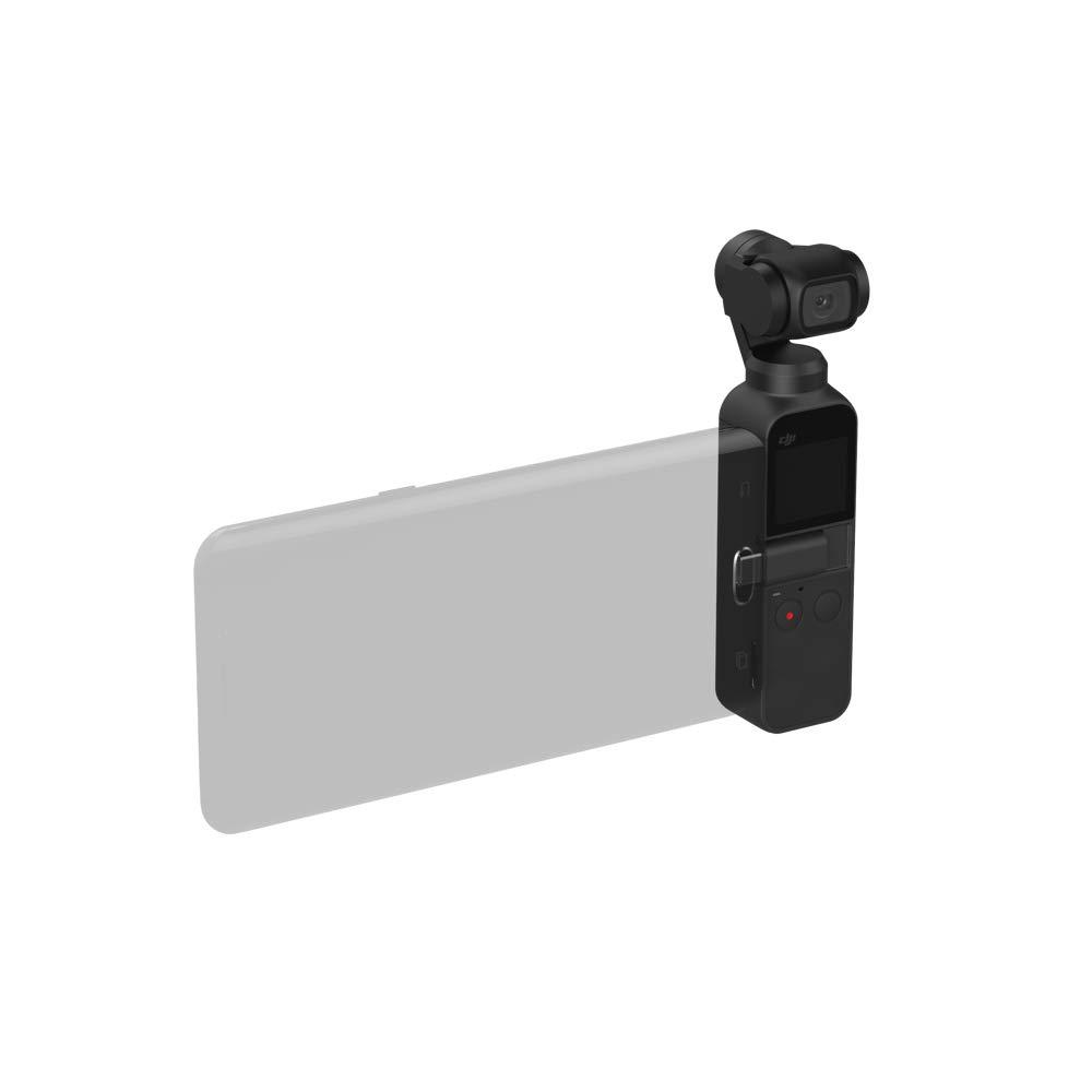 DJI Osmo Pocket - Cámara portátil con estabilizador en tres ejes, resolución de vídeo 4K, 12 MP, ideal para móvil, Apple iPhone y Android (USB-C), ...