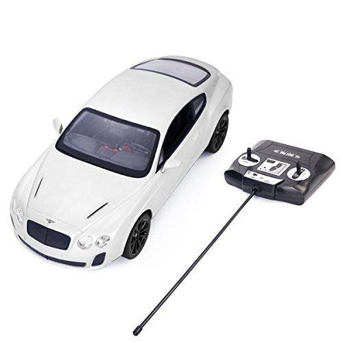 Safstar 1/14 4CH Radio Remote Control Bentley Continental GT Supersports Model Car (White)