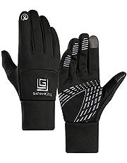 Lyperkin Winter Gloves, Premium Durable IPX 4 Waterproof Gloves Touchscreen Thicken Windproof Warm Glove for Men Women Suit Cycling Running Outdoor Activities