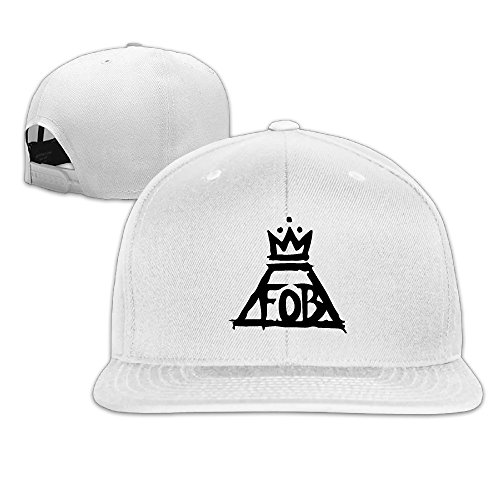 fall-out-boy-logo-boy-girl-adjustable-flat-visor-hat-baseball-cap-white