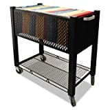 Vertiflex - Instacart File Cart 15W X 28-1/4D X 27-3/4H Black ''Product Category: Office Furniture/Mail Carts''