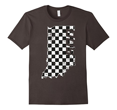 Mens Indiana State Checkered Flag with Number 500 Vintage Grunge XL - 500 Shirts Indy